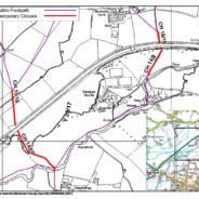 Temporary Closure of Footpaths CH14/10, CH 15/18, CH 15/15 and CH 14/9